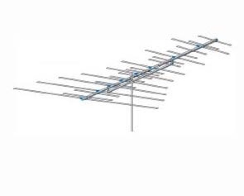 AntennaCraft CS900 Fringe Area VHF / FM HD TV Antenna 33 Electronic Elements Directional Aerial CS Series Outdoor Television Local Off-Air Digital HDTV Signal Reception, BLUE ZONE, Part # CS-900