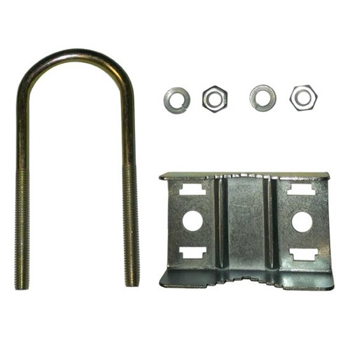 "Channel Master 3082 Antenna Mast U-Bolt Clamp Support Bracket 1 1/4"" OD Mast Clamp Support Antenna U-Bolt Support Mast Pipe Clamp Bracket Connection Assembly, Part # CM3082"