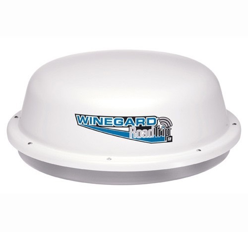 "Winegard RT1200S RoadTrip Satellite Dish Road Trip SD 12"" HD Ready Camper TV Antenna RV Mobile, DVB Technology, Dish Network, DirecTV and Express Vu, White, Stationary Model, Part # RT-1200-S, 1200S"