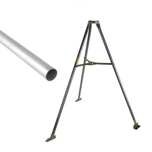 "Eagle 5' FT Tripod Mount Satellite Antenna with 1.66 Inch O.D Mast with Eagle Antenna Dish Mast Pipe 1.66"" OD1 5/8"" x 33"" Inch Galvanized Pipe Dish 500 18 GA Satellite Antenna Post Tube Ground Level Mounting Off-Air Outdoor Digital, Part # ANRT6K"