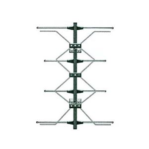 UHF Digital 4 Bay Antenna High Performance HDTV Four Bay AntennaCraft Outdoor HD TV Reception Aerial for Local Off-Air Digital Fringe Signal, LIGHT GREEN ZONE, Part # G1483