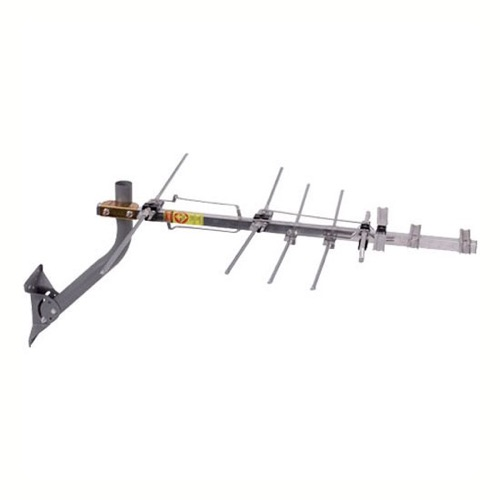 RCA ANT751 1080p HDTV Outdoor Digital TV Antenna with J-Mount Optimized UHF/VHF/FM Outdoor Off-Air Local Digital Signal Local Television Broadcast Reception Aerial, RED ZONE, Part # ANT-751