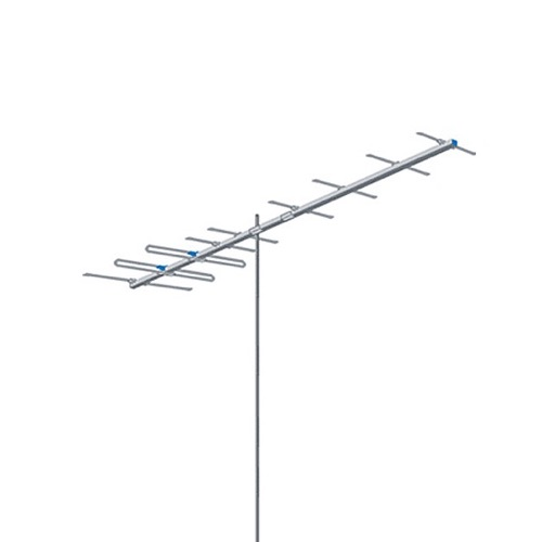 AntennaCraft Y10-7-13 High Band Broadband VHF Antenna Yagi Series Digital HDTV Highband VHF TV Aerial 10 Electronic Elements Directional Local Channels 7 - 13 Off-Air HD Signal Reception, BLUE ZONE, Part # Y10713