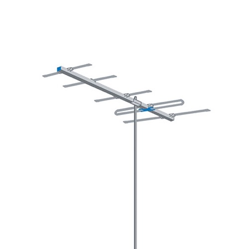 AntennaCraft Y5-7-13 Highband Broadband VHF Antenna Yagi Series Digital HD High Band VHF TV Aerial 5 Electronic Elements Directional Local Channels 7 - 13 Off-Air HDTV Signal Reception, RED ZONE, Part # Y5713