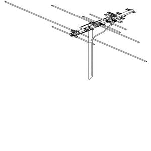 Winegard HD-7000R UHF/VHF HDTV Antenna Terrestrial Digital 10 Element Yagi Style Off-Air Local HD TV Antenna Signal Outdoor Television Aerial, 75 Ohm, LIGHT GREEN ZONE, Part # HD-7000R | With 50' FT Coax Cable