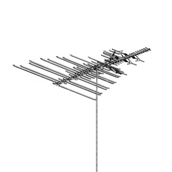 Winegard HD-8200U High Definition Platinum VHF / UHF / FM TV Antenna HD 8200U HDTV 68 Element Off-Air Local Digital Signal Channel Outdoor Television Aerial, BLUE ZONE, Part # HD8200U | With 50' FT RG6 Coax Cable | Open Box Item