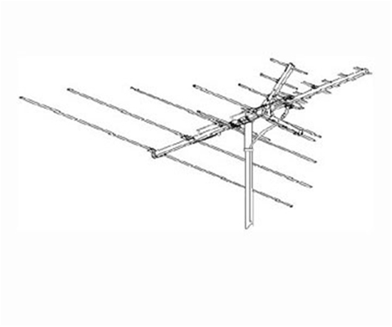 Winegard HD-7010 Outdoor TV Antenna HD7010 22 Element VHF / UHF / FM Off-Air High Definition Local Signal Digital Television Aerial, LIGHT GREEN ZONE, Part # HD 7010