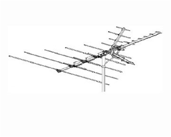 Winegard HD-7015 VHF / UHF / FM TV Antenna Aerial 1000 31 Element Off-Air High Definition Local Digital Signal Outdoor Television, RED ZONE, Part # HD7015 | With 50' FT Coax Cable | Open Box Item