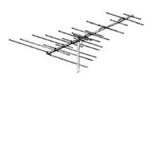 Winegard HD4053P VHF / FM TV Radio Antenna HD4053-P Uni-Directional 24 Element FM / VHF Off-Air Local Digital Signal Ready Best Yagi Style Outdoor Aerial, RED ZONE, Part # HD-4053 | With 50' FT Coax Cable