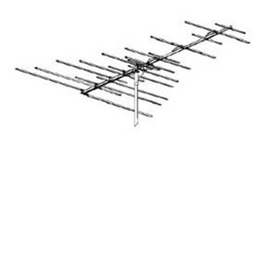 Winegard HD-4053P VHF / FM TV Radio Antenna HD4053-P Uni-Directional 24 Element FM / VHF Off-Air Local Digital Signal Ready Best Yagi Style Outdoor Aerial, RED ZONE, Part # HD4053P | With 50' FT Coax Cable | Open Box Item