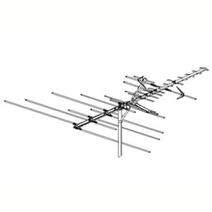 Winegard HD7080P High Definition HDTV VHF / UHF Antenna Uni-Directional Platinum HD Series Outdoor 39 Element Off-Air HDTV Digital Local Signal Television Aerial, RED ZONE, Part # HD7080P | With 50' FT Coax Cable