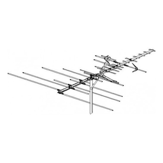 Winegard HD7082P TV/Radio Antenna Outdoor High Definition VHF/UHF/FM Platinum Series HDTV 50 Element HD-7082-P Off-Air Local Channel Signal Digital Aerial, 75 Ohm, BLUE ZONE, 50 FT RG6 Coax With Gold F Connectors Part # HD7082P
