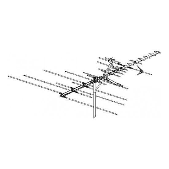 Winegard HD 7082P TV/Radio Antenna Outdoor High Definition VHF/UHF/FM Platinum Series HDTV 50 Element HD-7082-P Off-Air Local Channel Signal Digital Aerial, 75 Ohm, BLUE ZONE, 50 FT RG6 Coax With Gold F Connectors Part # HD7082P | Refurbished Item