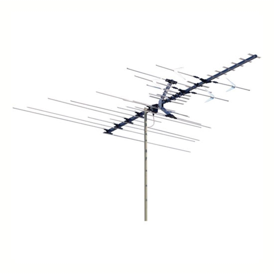 Winegard HD7084P High Definition Platinum VHF / UHF / FM HDTV Antenna 68 Element Off-Air Local Digital Signal Channel Outdoor Television Aerial, BLUE ZONE, Part # HD-7084P | With 50' FT Coax Cable | Open Box Item