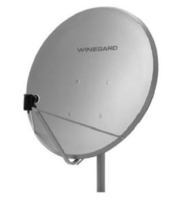Winegard DS-3100 1 Meter Satellite Dish Antenna DS3100 Outdoor FTA DSS DBS Digital Signal Reception DTV A2/EL Mount Universal Feed, 41.3 Inch, Free To Air, Part # DS3100