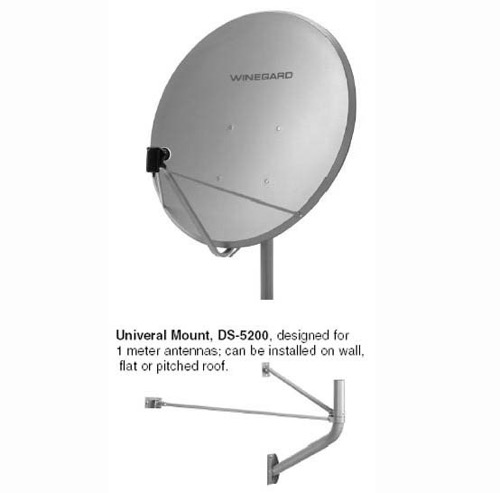 "Winegard DS-3101 1 Meter Satellite Dish Antenna DS3101 FTA / DTV TV Free to Air, Universal Feed and Universal Mount, 41.3"", Part # DS3101"