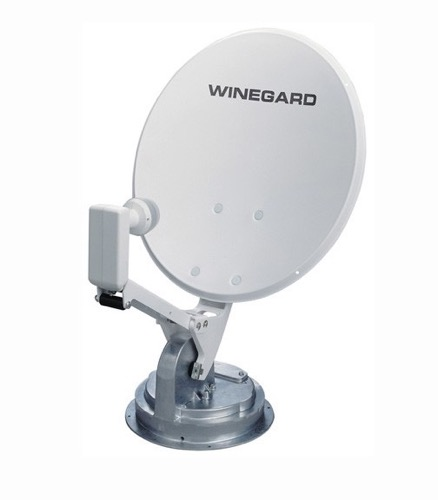 Winegard RM-4600 Crank-Up RV Digital Satellite Dish TV Antenna RM-4600 Camper Compact Folding / Rotating Mount with LNBF, Perfect for Integrating TV to your RV, Part # RM-4600