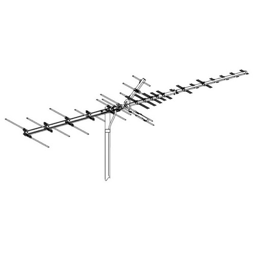 Winegard HD-7696P High Definition VHF/UHF HD769 Series Antenna 41 Element Off-Air Local HDTV Digital Signal Channel Outdoor Television Aerial, BLUE ZONE, Part # HD-7696P | With 50' FT Coax Cable