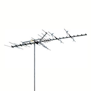 Winegard HD7697P High Definition VHF/UHF Outdoor TV Antenna Platinum HD Series Digital HDTV 53 Element Off-Air Local Signal Channel Television Aerial, BLUE ZONE | With 50' FT Coax Cable