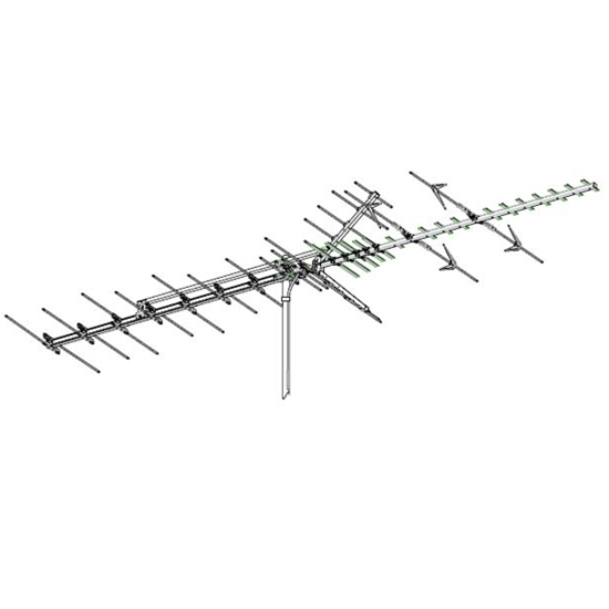 Winegard HD-7698P High Definition VHF/UHF HD-769 Series HDTV Antenna HD7698P 64 Element Off-Air Local Digital Signal Channel Outdoor Television Aerial, BLUE ZONE, Part # HD-7698P | With 50' FT Coax Cable | Refurbished Item
