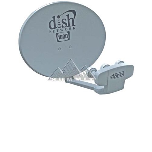 Dish Network Dish 1000.2 Triple LNB High Definition Capable Dish Pro Plus Satellite Dish Antenna Voom HD Compatible, DBS DSS Outdoor Satellite Reflector Arm, FTA Signal Receiver, Part # DISH1000.2