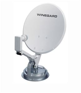 Winegard RM-DM46 RV Crank-Up Digital Satellite TV Dish with Digital Magic and Dual LNBF, Compact Travel, Roof Mount, LCD Readout, Retractable Sensor, Part # RM-DM46