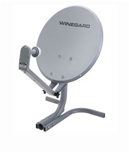 "Winegard PM2000 Portable RV Satellite Dish Antenna System PM2000 18"" Camper Mobile Sat Digital Signal Reception with LNBF, Part # PM2000"