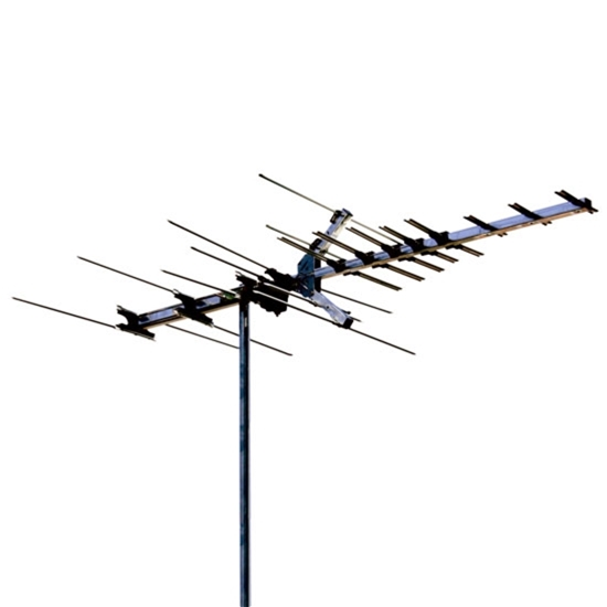 Winegard WGHD7694PB Digital HDTV High Definition VHF/UHF HD769 Series Antenna 28 Element Off-Air Local HD Signal Channel Outdoor Television Aerial, RED ZONE, Part # HD7694P | With 50' FT RG6 Coax Cable