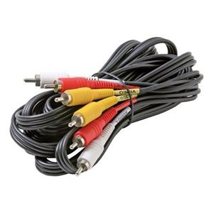 DIRECTV Composite Cable 3 RCA Male 8' FT Video Triple Connect RED YELLOW WHITE A/V Stereo Shielded Digital Signal DVD VCR Hook-Up Jumper with Plug Connectors