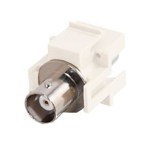 Steren 310-410WH BNC Keystone Insert Plug White Connector Coupler Jack Modular QuickPort Audio Video Snap-In, Wall Plate Snap-In Data Junction Component Connection, Part # 310410-WH