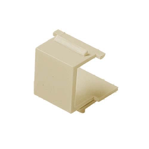 Leviton 40859-I QuickPort / Keystone Wall Plate Blank 4 Pack Ivory Flush Mount Snap-In Modules, Audio Video Data Junction Box Snap-In Network Telecommunications Jack, Part # 40859I