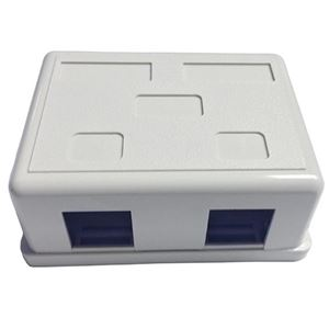 Eagle Surface Mount 2 Opening White Plastic Jack Block Modular Junction Box Block Network Phone Data Outlet