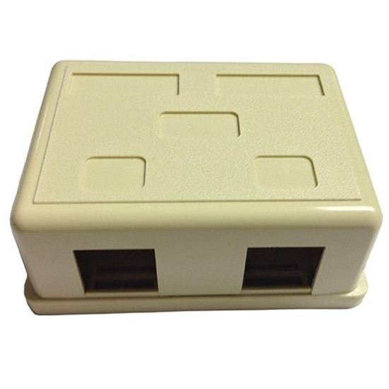 Surface Mount Box Ivory Jack Block Plastic Enclosure Box Junction Modular Network Telephone Jack Data Outlet