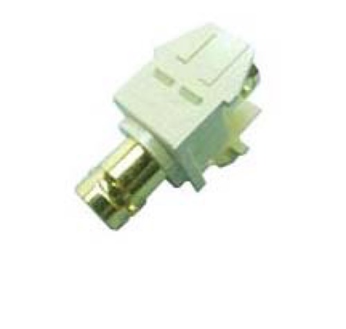 Leviton BNC Jack Keystone Insert Ivory QuickPort Connector Coupler Female to Female Modular Insert 40832-I Gold Audio Video Snap-In, Data Junction Wall Plate Component Connection, Part # 40832I