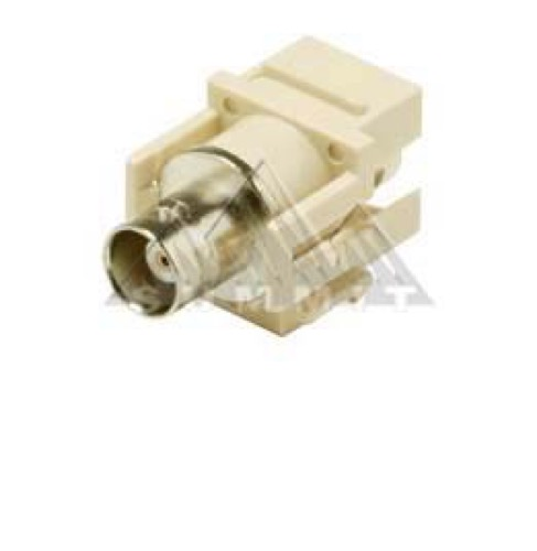 BNC Insert Keystone Jack Modular Plug Connector Ivory Steren 310-410-IV QuickPort Audio Video Snap-In, Wall Plate Snap-In Data Junction Component Connection, Part # 310410-IV
