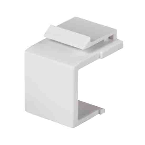 Steren 310-420WH-10 Blank Keystone Insert 10 Pack White Wall Plate QuickPort Plug 1 Pack Flush Mount Snap-In Modules, Audio Video Data Junction Box Snap-In Network Jack, Single Pack, Part # 310-420-WH-10