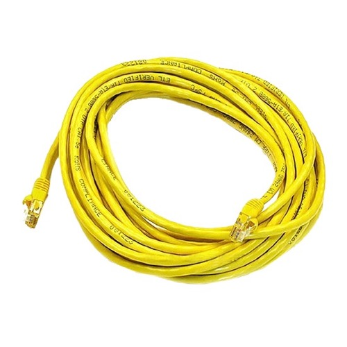 Vanco CAT5E 14' FT UTP Yellow Patch Cable 23 AWG Copper Snagless Molded RJ45 350 MHz Network Cable RJ-45 Enhanced Category 5 Cable High Speed Ethernet Data Telephone Computer Jumper, Yellow, Part # CATPC14YEL