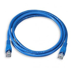 Steren 308-614BL 14' FT Blue CAT5e Patch Cable 24 AWG Copper UTP 350 MHz Molded Booted RJ45 Network Snagless 24 AWG Stranded Male to Male RJ-45 Enhanced Category 5e, Part # 308614-BL