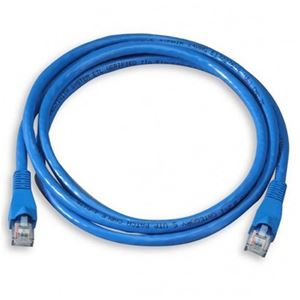 Eagle 7' FT CAT5e Patch Cord Cable Blue Snagless Ethernet RJ45 23 AWG Copper 350MHz Patch Lan Enhanced Category 5 Patch Cables RJ45 for High Speed Ethernet Data / Telephone Audio Signal, Blue