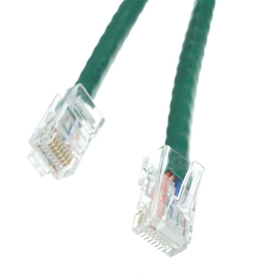 Eagle 1' FT CAT5e UTP Patch Cable Green RJ45 350 MHz Flush RJ-45 Network 24 AWG Stranded Male to Male Enhanced Category 5e High Speed Ethernet Data Computer Gaming Jumper