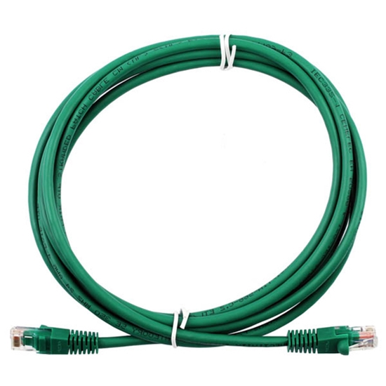Steren 308-625GR 25' FT CAT5e Patch Cord Cable Green UTP 350 MHz Snagless Ethernet Molded Booted RJ45 Network Snagless 24 AWG Copper Stranded Male to Male RJ-45 Enhanced Jumper, Part # 308625-GR