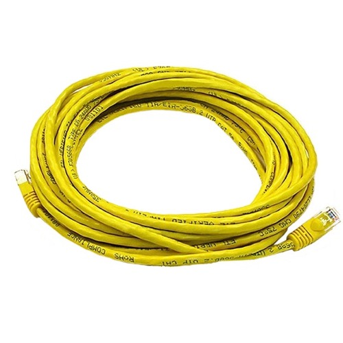 Steren 308-607YL 7' FT Yellow CAT5e Patch Cable UTP 350 MHz 24 AWG Copper Molded Booted RJ45 Network 24 AWG Stranded Male to Male RJ-45 Enhanced Category 5e High Speed Ethernet Data Computer Gaming Jumper, Part # 308607-YL