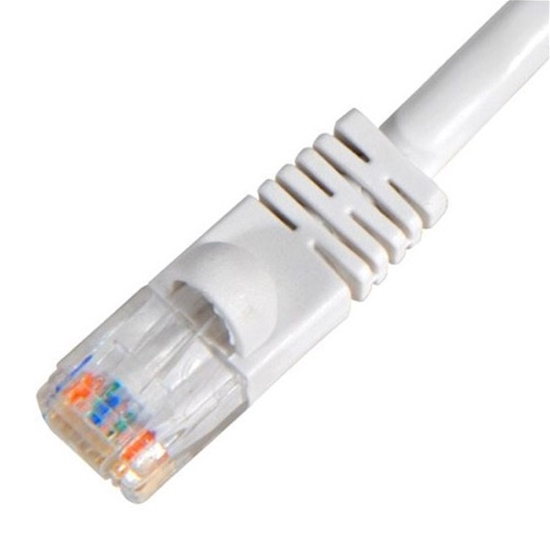 Steren 308-600WH 100' FT CAT5e Cable Patch Cord White UTP 350 MHz RJ45 Each End Ethernet Network Booted Snagless Gold Molded 24 AWG Copper Stranded RJ-45 Enhanced Category 5e High Speed Data Computer Gaming Jumper, Part # 308600-WH