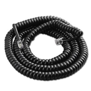 Steren BL-322-025BK 25 FT Coiled Handset Telephone Cord Black
