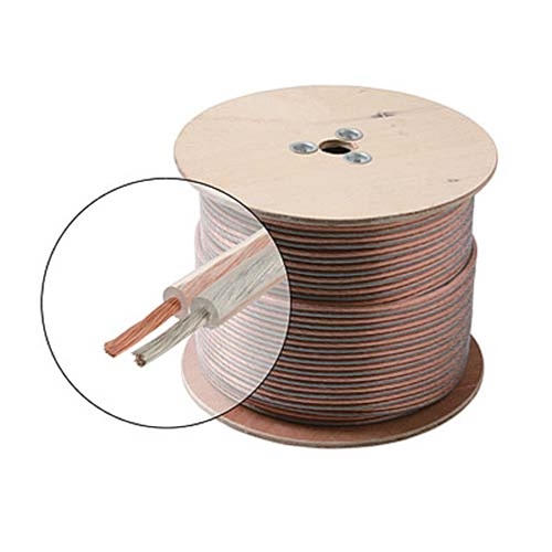 Eagle 500' FT 10 AWG GA Speaker Cable 2 Wire Conductor Clear Python 2 Ultra Flexible Oxygen Free Copper Polarized Audio Speaker Cable Stranded 10/2 Audio Speaker Cable 2-Wire 10 Gauge 2 Conductor