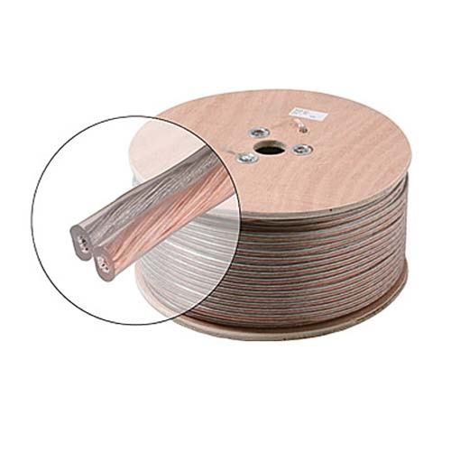 Eagle 1000' FT 16 AWG GA 2 Conductor Speaker Cable Wire 16-2 Clear Jacket Audio Speaker Cable Stranded Flexible Copper Conductor Polarized 2-Wire Speaker Cable