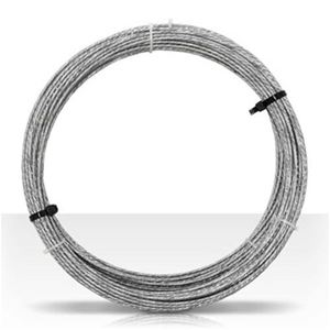 Channel Master 3084 100' FT Galvanized Steel Guy Wire Antenna Mast 20 AWG GA 6 Stranded Cable Support Off-Air Aerial Pipe Roof Mount