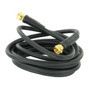 Channel Master 3101 3' FT RG59 Coaxial Cable Jumper with Gold F Type Connectors RG-59 CM-3101 TV Video Extension Audio Plug Hook Up, 75 Ohm, Part # CM3101