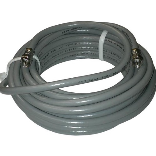 Channel Master 3139 12' FT RG6 Solid Copper Coax Cable RG-6 Weatherproof 1.8 GHz Coaxial Cable Digital Satellite Dish Video Off-Air TV Antenna Signal 75 Ohm Shielded with Factory Installed F-Type Connector Plugs, Part # 3139