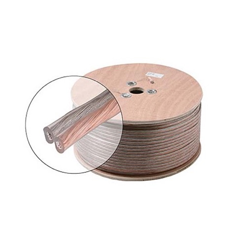 Steren 255-315CL 14 AWG Ga Speaker Cable 2 Wire Conductor Clear Polarized Audio Speaker Cable Stranded Flexible Copper Conductor 14/2 Audio Speaker Cable 2-Wire 14 Gauge 2 Conductor, Sold by the Foot, Part # 255315CL